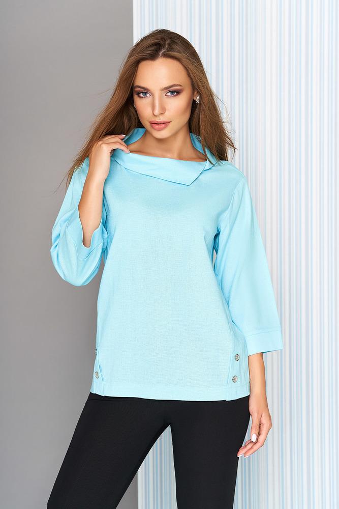"""Блуза """"L-613"""" (голубой)  AZZ"""