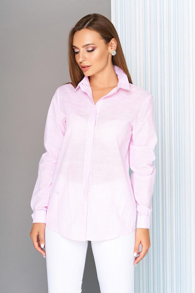 """Рубашка """"S-07"""" (розовая полоска)  AZZ"""