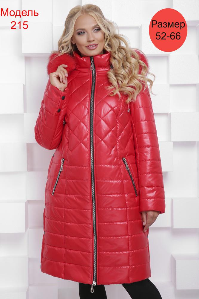 Пальто зимнее WLL №215 (красный)