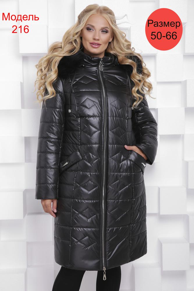 Пальто зимнее WLL №216 (черный)
