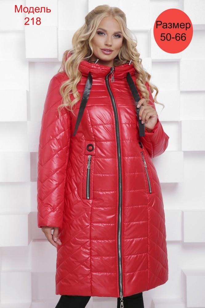 Пальто зимнее WLL №218 (красный)